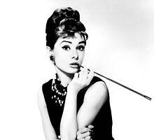 Audrey Hepburn Print by emrapper