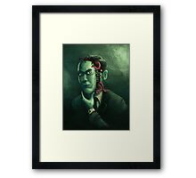 H.P. Lovecraft (w/background) Framed Print