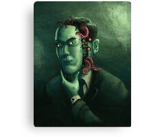 H.P. Lovecraft (w/background) Canvas Print
