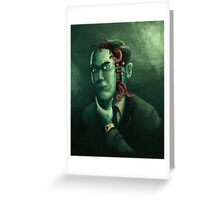H.P. Lovecraft (w/background) Greeting Card