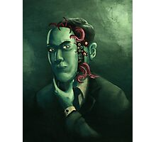 H.P. Lovecraft (w/background) Photographic Print