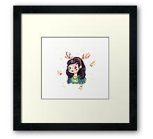 My Deer Girl Framed Print
