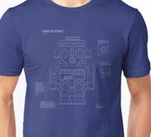 Retro robot blueprint Unisex T-Shirt