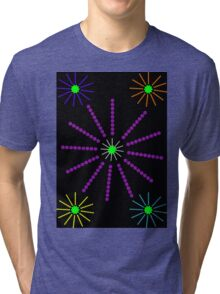 Exploding Firework Display Abstract Tri-blend T-Shirt