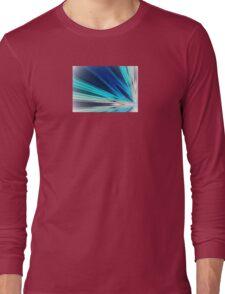 Blue Sun Rays Long Sleeve T-Shirt