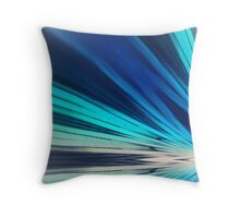 Blue Sun Rays Throw Pillow