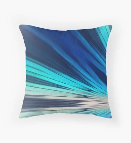 Blue Sun Rays Throw Pillow