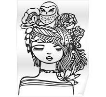 Owl Girl Poster