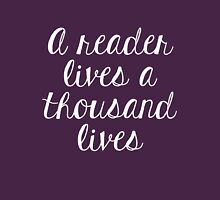A reader lives a thousand lives (Pink) Unisex T-Shirt