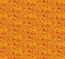 Paco's Taco's Pattern by TrendSpotter