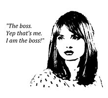I am the boss - Clara Oswald design Photographic Print