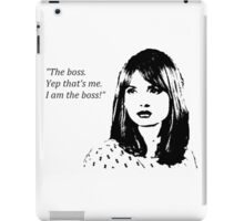 I am the boss - Clara Oswald design iPad Case/Skin