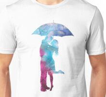 Couple Kissing under Umbrella Unisex T-Shirt