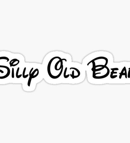 Silly Old Bear Sticker