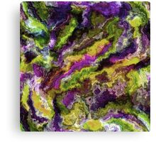 Colorful Artistic Abstract Paint Swirls Art Pattern Canvas Print