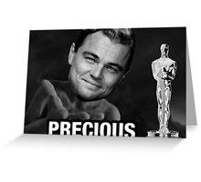 Leonardo reacting to Oscar Greeting Card