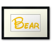 yellow bear Framed Print