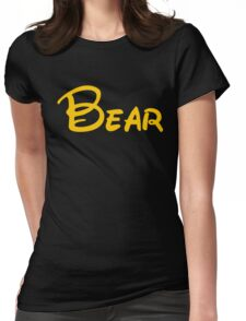 yellow bear Womens Fitted T-Shirt