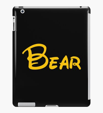 yellow bear iPad Case/Skin