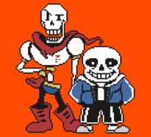 Undertale - Sans and Papyrus Kids Tee