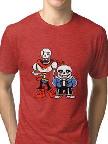 Undertale - Sans and Papyrus Tri-blend T-Shirt