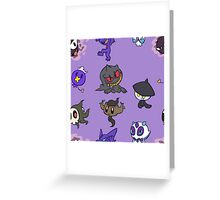 Ghost Pokemon Greeting Card