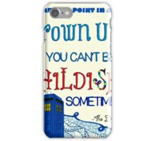 Dr. Who Zentangle Quote iPhone Case/Skin