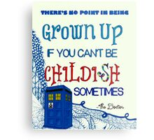 Dr. Who Zentangle Quote Metal Print