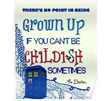 Dr. Who Zentangle Quote Poster