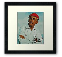 Jacques Cousteau Framed Print