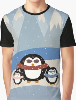 Cute Penguins Graphic T-Shirt