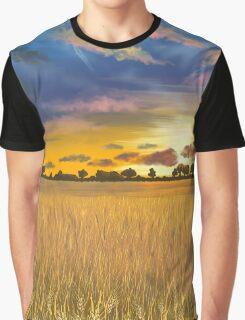 Ukranian sunset beautiful landscape Graphic T-Shirt