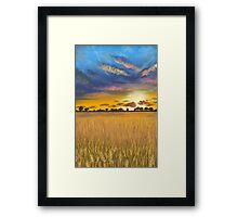 Ukranian sunset beautiful landscape Framed Print