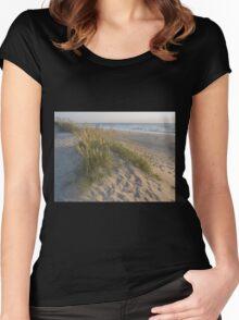 Sea Oats Sunrise Women's Fitted Scoop T-Shirt
