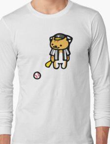 Joe DiMeowgio - Neko Atsume Long Sleeve T-Shirt