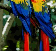 Pair of Parrots Sticker