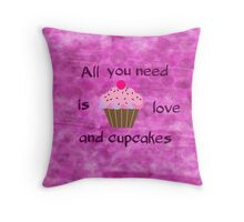 Love and Cupcakes Throw Pillow