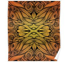 Abstract Flame Whirls Poster