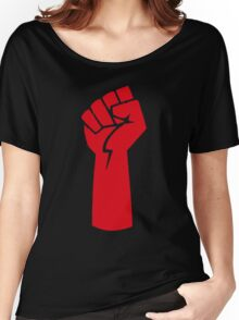 red fist Women's Relaxed Fit T-Shirt