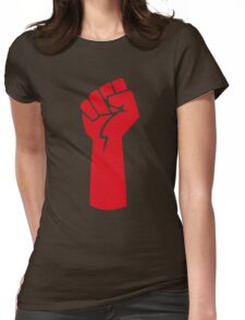 red fist Womens Fitted T-Shirt