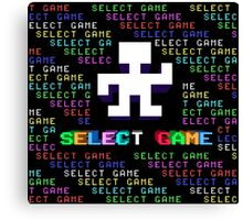 SELECT GAME Canvas Print