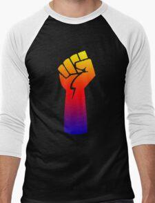 rainbow fist Men's Baseball ¾ T-Shirt