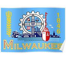 Milwaukee flag Poster