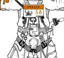 Vitruvian Astronaut Sticker