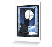 Cat moon Greeting Card