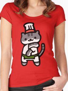 Guy Furry - Neko Atsume Women's Fitted Scoop T-Shirt