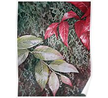 Tropical Foliage Watercolour Painting Poster