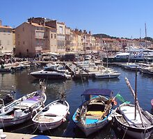 Trendy St.Tropez Harbour by biddumy