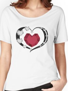 Valentines Crystal Hearts Women's Relaxed Fit T-Shirt