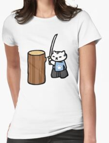 Mr Meowgi - Neko Atsume Womens Fitted T-Shirt